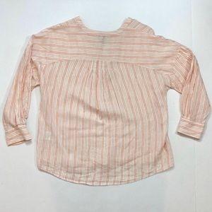 Joie Tops - JOIE Bekette Striped Linen Top Blush Sand (Pink) M